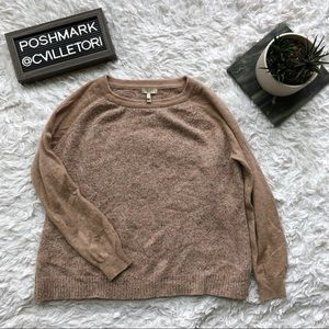 Joie Raglan Sleeve Marled Sweater Pullover Small